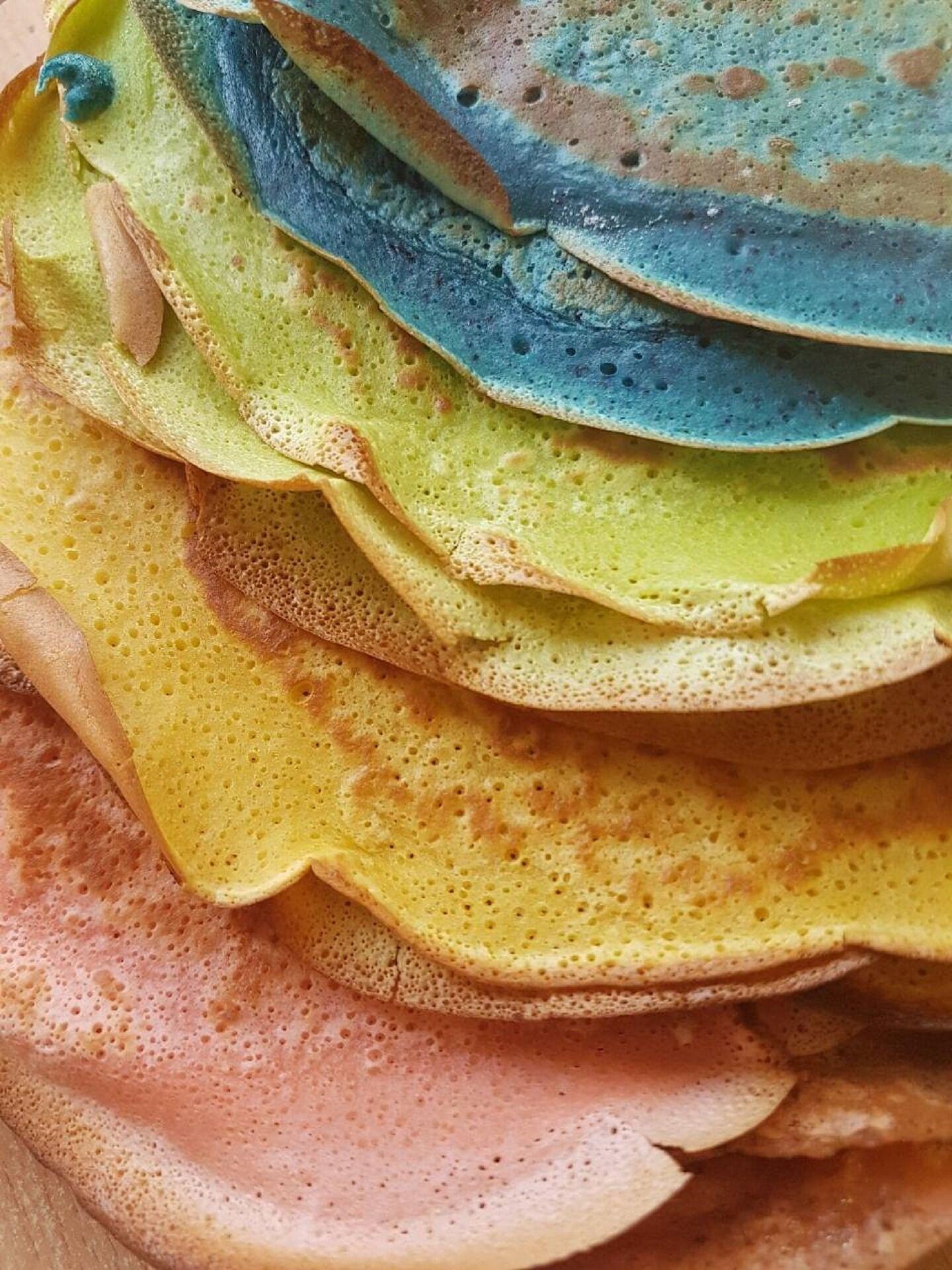 színes palacsinták