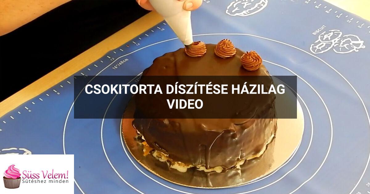 Csokitorta díszítése házilag