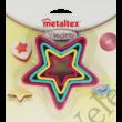 Metaltex 4 részes műanyag csillag alakú süti kiszúró készlet