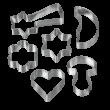 Metaltex 6 részes fém karácsonyi sütikiszúró készlet