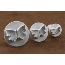 3 részes műanyag pillangó fondant kiszúró