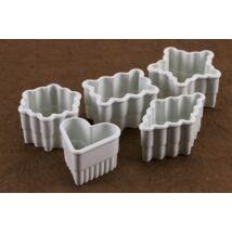 5 részes hullámos szélű műanyag süti kiszúró készlet
