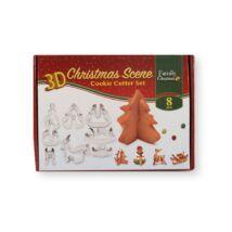 8 részes 3D karácsonyi mézeskalács kiszúró készlet