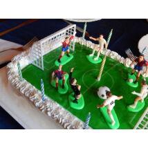 Születésnapi focis tortadísz