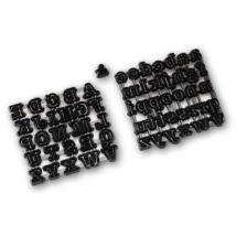 ABC kis- és nagybetűi tortafelirat készítő patchwork fondant kiszúró készlet