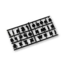 ABC kisbetűi tortafelirat készítő patchwork fondant kiszúró készlet