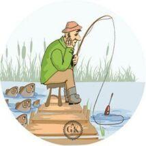 Bánatos horgász tortaostya
