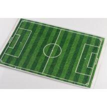 Csíkos téglalap alakú focipálya tortaostya