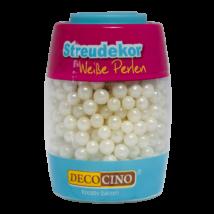 DecoCino gyöngyház fehér cukorgyöngy 65 g
