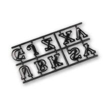Díszes nagybetűk patchwork fondant kiszúró