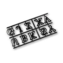 Díszes nagybetűk sziluett kiszúró