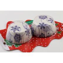 Karácsonyi hópelyhes muffin papír 50 db