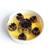 6 cserélhető közepű linzer kiszúró forma maci, szív mintával
