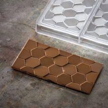 Méhsejt mintás 3 adagos polikarbonát táblás csoki forma