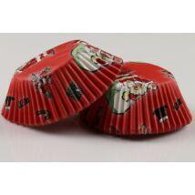Mikulásos muffin papír piros 50 db