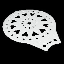 Műanyag Metaltex kerek tortadíszítő sablon