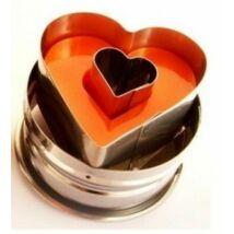 Rugós szív alakú kiszúró forma
