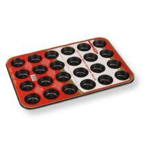 Tapadásmentes mini muffin sütőforma 24 adagos