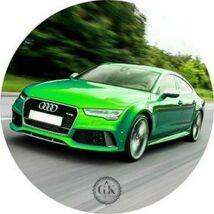 Zöld Audi tortaostya