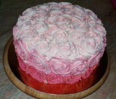 díszített torta - ombre torta