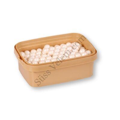 1 cm-es gyöngyház fehér cukorgyöngy