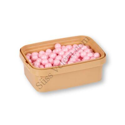 1 cm-es gyöngyház rózsaszín cukorgyöngy