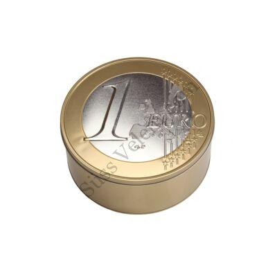 1 Euro fém kekszes doboz