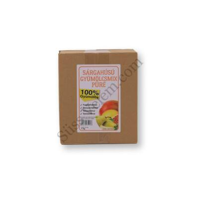 1 kg natúr sárgahúsú gyümölcspüré