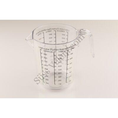 1 l-es műanyag átlátszó mérőpohár