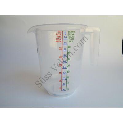 1 l-es műanyag mérőkancsó