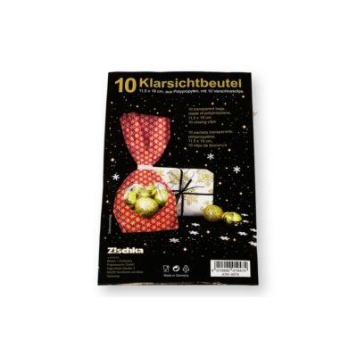 10 db 11,5*19 cm-es hópehely mintás desszert csomagoló tasak
