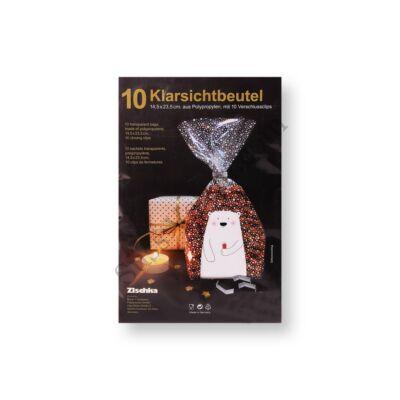 10 db 14,523 cm-es jegesmedvés és hópehely mintás desszert csomagoló tasak