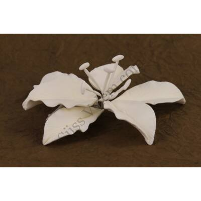 10 db óriás fehér liliom cukorvirág (nem ehető)