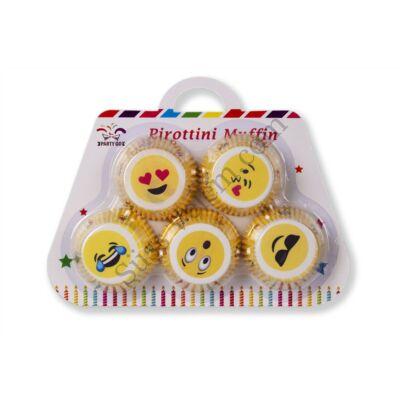 100 db Emoji mitás muffin papír táska alakú csomagolásban