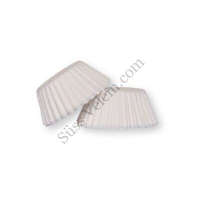 100 db fehér minimuffin papír