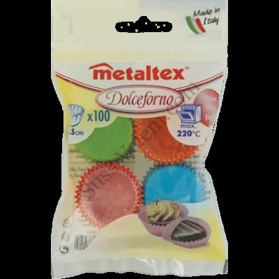100 db színes Metaltex bonbon papír