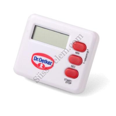 Fehér Dr Oetker digitális konyhai időzítő