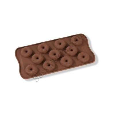 11 adagos csíkos minifánk alakú szilikon bonbon forma