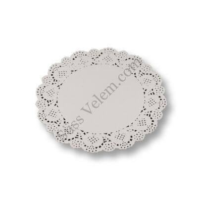 12 db 26,5 cm-es fehér kerek tortacsipke