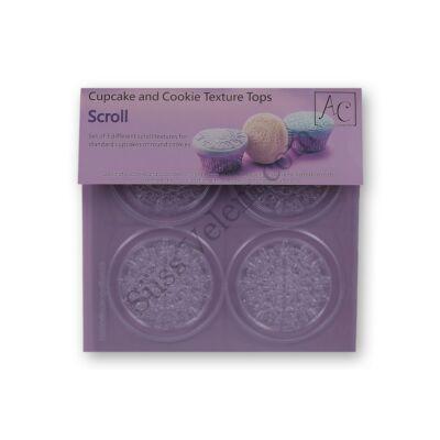 12 db (3 -féle) kör alakú mandala fondant mintázó muffinra, kekszre