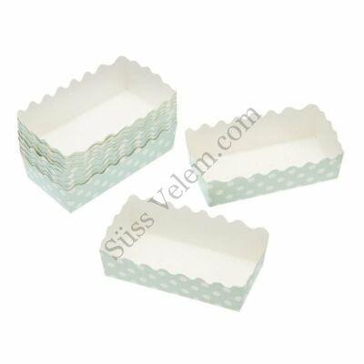 12 db zöld alapon fehér pöttyös Kitchen Craft hosszúkás sütemény papír