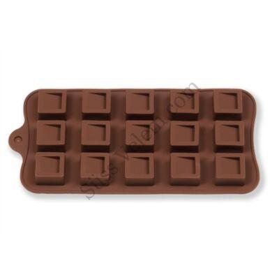 15 adagos négyzet alakú szilikon bonbon forma