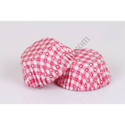 150 db pink póker mintás muffin papír