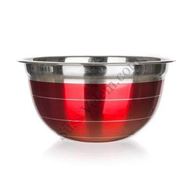 16,5 cm Banquet Avanza piros rozsdamentes keverőtál