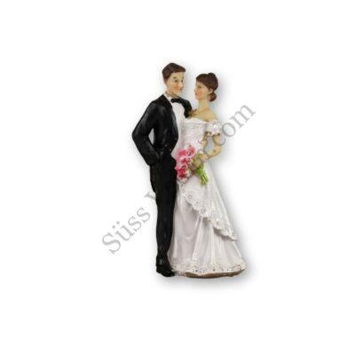 Menyasszonyi csokros 17 cm-es  nászpár