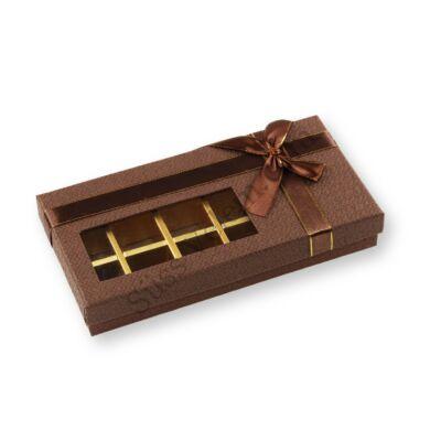 18 adagos betekintő ablakos masnis bonbon doboz