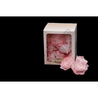 18 db közepes méretű halvány rózsaszín ostyarózsa