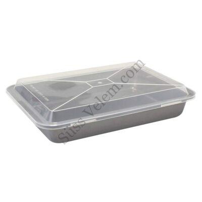 36*27 cm Banquet Culinaria tapadásmentes tepsi műanyag tetővel