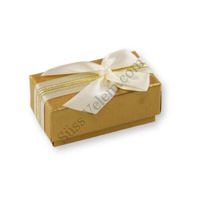 2 adagos sárgás arany masnis bonbon doboz