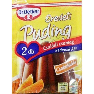 2*49g eredeti csokoládés Dr Oetker puding